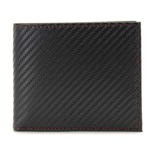 monte SPIGA モンテスピガ 二つ折り財布 MOSQS371BBKRD カーボン調 ブラック×レッド メンズ|s-select