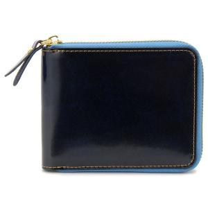 モンテスピガ monte SPIGA 二つ折り財布 レザーコレクション ネイビー×ブルー|s-select