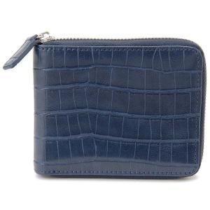 monte SPIGA モンテスピガ 二つ折り財布 MOSQS553BNV クロコ型押し ブルー メンズ 新品 s-select