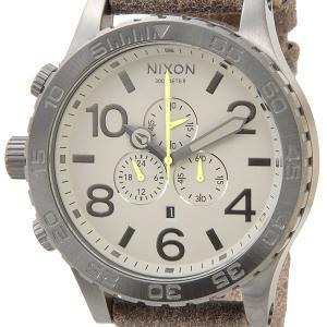 ニクソン NIXON クロノグラフ 51-30 NA1241388 レザーベルト ガンメタル×ブラウン メンズ腕時計 ブランド s-select