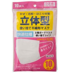 マスク 10枚入り ホワイト 白色 小さめサイズ 女性用 子供用 国内検品 在庫あり 10枚  送料無料 MK-CT|s-select