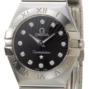 オメガ OMEGA 腕時計 123.10.24.60.51.001 レディース ブラック ダイヤモンド12P【送料無料】|s-select