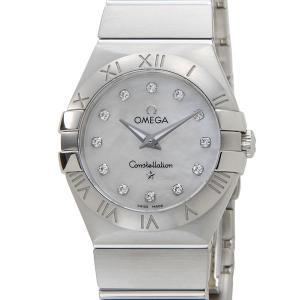オメガ 123.10.27.60.55.001 コンステレーション レディース 腕時計 OMEGA ホワイトシェル 12Pダイヤモンド|s-select