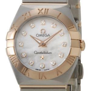オメガ OMEGA コンステレーション ブラッシュ クオーツ レディース 腕時計 PG×SS 12Pダイヤ 123.20.24.60.55.001 ブランド|s-select