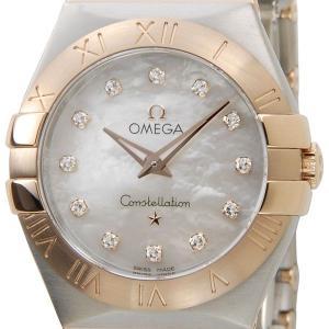 オメガ OMEGA 123.20.27.60.55.001 コンステレーション ホワイトシェル12Pダイヤモンド レディース腕時計 ブランド|s-select