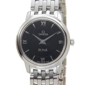 オメガ OMEGA 424.10.27.60.01.001 デビル プレステージ レディース 腕時計 ブラック×シルバー|s-select
