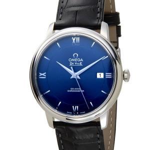 OMEGA オメガ 腕時計 424.13.40.20.03.001 DE VILLE デビル プレステージ コーアクシャル ネイビー メンズ|s-select