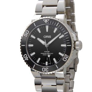 オリス ORIS アクイス デイト ダイバーズ 自動巻き 733.7730.4154M ブラック 腕...