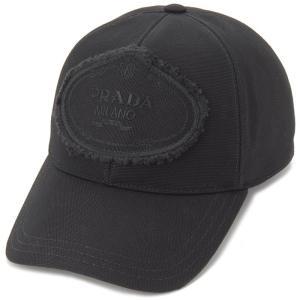 プラダ PRADA キャップ 帽子 1HC274 010 F0002 M キャンバス ロゴ ブラック メンズ レディース 新品 【送料無料】|s-select