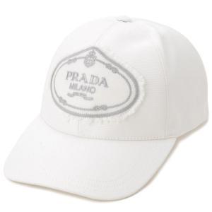 プラダ PRADA キャップ 帽子 1HC274 010 F0009 M ナイロン ロゴ ホワイト メンズ レディース 新品|s-select
