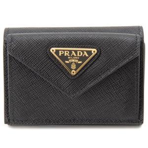 プラダ PRADA 三つ折り財布 1MH021-QHH-F0002 コンパクト財布 ブラック レディース 新品 【送料無料】|s-select
