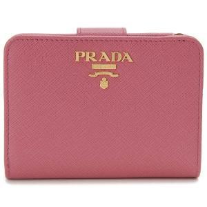 プラダ PRADA 二つ折り財布 1ML018 QWA F0505 サフィアーノ PEONIA ピンク レディース|s-select