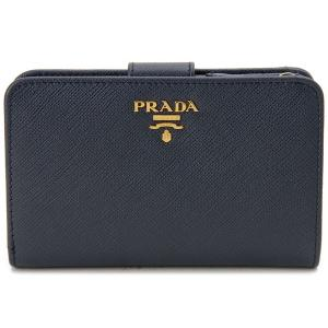 PRADA プラダ 二つ折り財布 1ML225 QWA F0216 サフィアーノ BALTICO ネイビー s-select