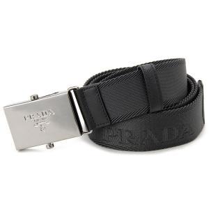 プラダ PRADA メンズ ベルト 2CN005 2A53 F0002 ビジネスベルト 95cm グレー s-select