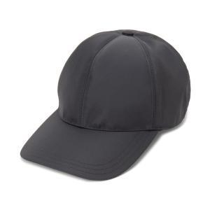 増税前の大決算セール プラダ PRADA キャップ 帽子 2HC274-2B15-F0002 Lサイズ ナイロン ロゴ ブラック メンズ レディース|s-select