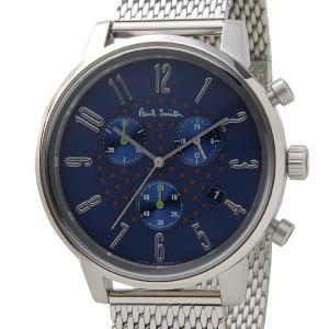 ポールスミス Paul Smith 腕時計 メンズ BR4-012-71 チャーチ ストリート クロノグラフ ネイビー×シルバー 信頼の日本製 s-select