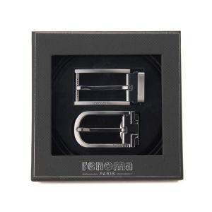 レノマ renoma ベルト メンズ ギフトセット 牛革 2バックル リバーシブル ベルトセット 003 ブラック×ブラウン|s-select