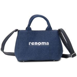 レノマ renoma ハンドバッグ 1505001-0015 キャンバス 2WAYバッグ デニム|s-select