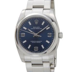 ロレックス 114200 BL エアキング メンズ 腕時計 ROLEX オイスターパーペチュアル ブルー 新品
