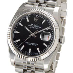 ロレックス ROLEX 116234 BK デイトジャスト ブラック メンズ 腕時計 新品 送料無料