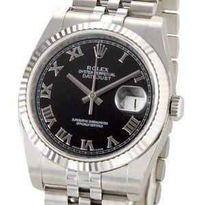 ロレックス ROLEX 116234 BK-R デイトジャスト ブラック ローマ メンズ 腕時計 新品 送料無料