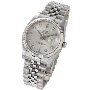 ロレックス ROLEX 116234 G デイトジャスト シルバー ダイヤモンド10P メンズ 腕時計|s-select|02