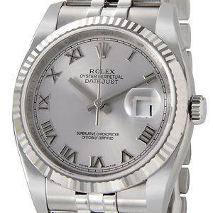 ロレックス ROLEX 116234 GY-R デイトジャスト グレー ローマ メンズ 腕時計|s-select