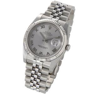 ロレックス ROLEX 116234 GY-R デイトジャスト グレー ローマ メンズ 腕時計|s-select|02