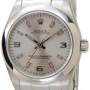ロレックス ROLEX 177200 SV-AR-PK オイスターパーペチュアル ボーイズ シルバー レディース 腕時計 ブランド 送料無料 新品