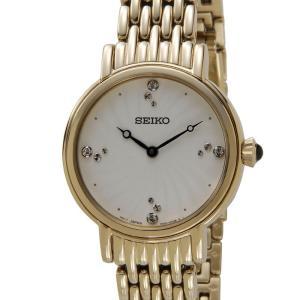 セイコー SEIKO SFQ804P1 SWAROVSKI スワロフスキー クリスタル クオーツ ゴールド レディース 腕時計【送料無料】|s-select