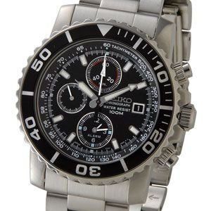 セイコー SEIKO クロノグラフ メンズ 腕時計 海外モデル SNA225P1 クォーツ ブラック...