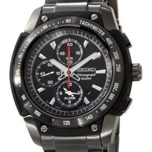セイコー SEIKO メンズ 腕時計 SNAD49P1 クロノグラフ アラーム ブラック×ブラック セイコーウオッチ ブランド【送料無料】|s-select