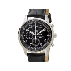セイコー クロノグラフ SEIKO Chronograph メンズ 腕時計 SNDC33P1 クロノグラフ ウオッチ 革ベルト ブラック【送料無料】|s-select