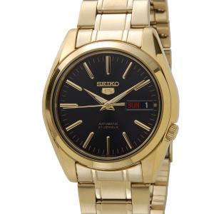 セイコー 5 ファイブ SEIKO SNKL50K1 Automatic 自動巻き ブラックダイアル ゴールド メンズ 腕時計|s-select