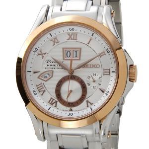 セイコー SEIKO SNP080P1 プルミエ パーペチュアル キネティック シルバー×ゴールド メンズ 腕時計 ブランド【送料無料】|s-select