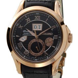 セイコー SEIKO SNP084P1 プルミエ パーペチュアル キネティック ブラック×ゴールド メンズ 腕時計 ブランド【送料無料】|s-select
