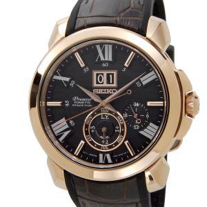 セイコー SEIKO プルミエ キネティック SNP146P1 Premier KINETIC 革ベルト ブラウン メンズ 腕時計【送料無料】|s-select