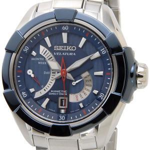 セイコー キネティック ダイレクトドライブ 腕時計 SEIKO SRH017P1 KINETIC ブルー メンズ オートクォーツ 電池交換不要 セイコーウオッチ ブランド【送料無料】|s-select