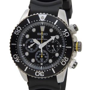 セイコー SEIKO ソーラー クロノグラフ ダイバーズ 腕時計 SSC021P1 ブラック ラバー メンズ クォーツ 電池交換不要|s-select
