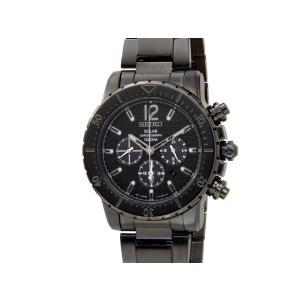 セイコー クロノグラフ SEIKO Chronograph メンズ 腕時計 SSC225P1 クロノグラフ ソーラー ブラック【送料無料】|s-select