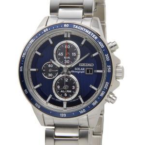 セイコー SEIKO SSC431P1 SOLAR ソーラー クロノグラフ ネイビー メンズ 腕時計【送料無料】|s-select