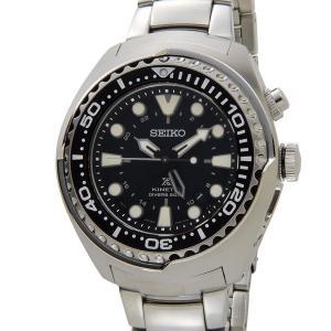 SEIKO セイコー PROSPEX プロスペックス SUN019P1 キネティック GMT ダイバー メンズ 腕時計 自動巻き ブラック|s-select