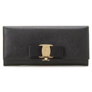 フェラガモ Ferragamo 長財布 リボン 22 B55...