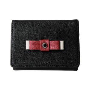 コンパクト折財布 コインケース 小銭入れ レディース ブラック|s-select