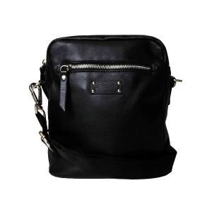 ショルダーバッグ イタリア製 牛革 メンズ ブラック 送料無料|s-select