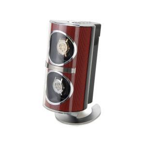 Royal hausen ロイヤルハウゼン ワインディングマシーン SR091RD 2本巻 メタリック ウォッチワインダー レッド|s-select