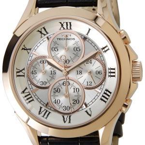 テクノス TECHNOS T4345PS クロノグラフ 24時間計 10気圧防水 ピンクゴールド メンズ 腕時計|s-select