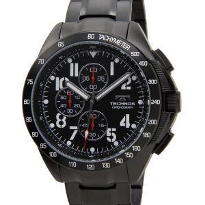 テクノス TECHNOS T4417BB クロノグラフ 10気圧防水 ブラック メンズ 腕時計 s-select