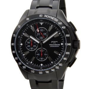 テクノス TECHNOS T4417BH クロノグラフ 10気圧防水 ブラック メンズ 腕時計 s-select
