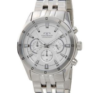 テクノス TECHNOS メンズ 腕時計 T6456SS クロノグラフ ホワイト|s-select